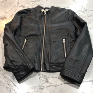 Me Jane Faux Leather Biker Jacket